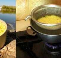 Как варить пшено для прикормки рыбы