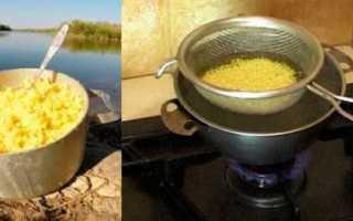 Как варить пшенную кашу для рыбалки