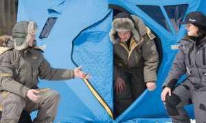 Зимняя палатка рыбака